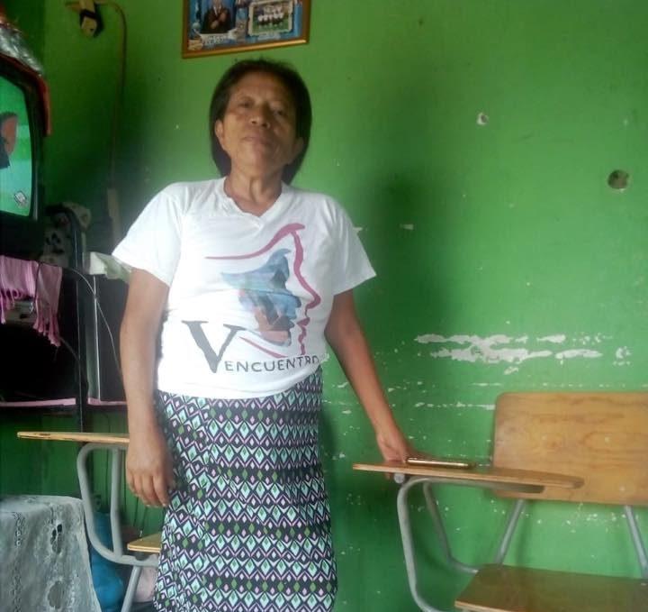 Nuestra compañera Carmen de ICW Honduras