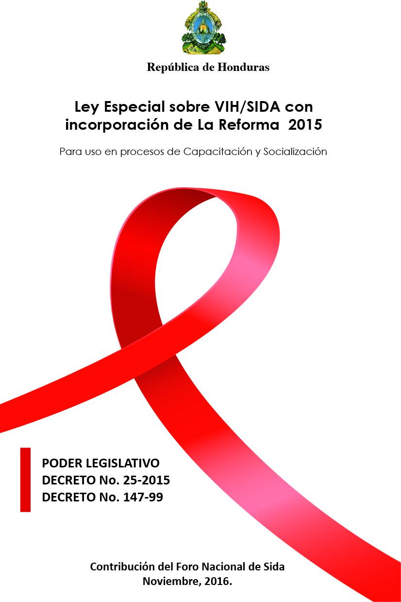 Ley Especial sobre VIH/SIDA con incorporación de La Reforma  2015
